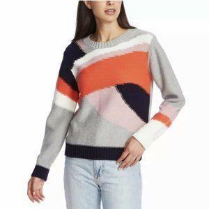 1 STATE NEW Women's Papaya Multi Cotton Colorblock